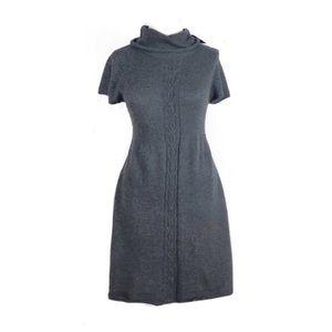 Zara knit dress medium turtleneck gray winter